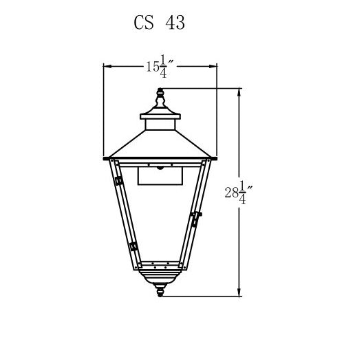 Electric Gas Light - Conception Street 43 - CS43E _ 2