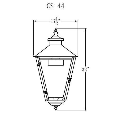 Electric Gas Light - Conception Street 44 - CS44E _ 2