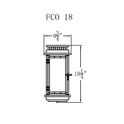 Electric Gas Light - Contempo Flush 18 - FCO18E _ 2