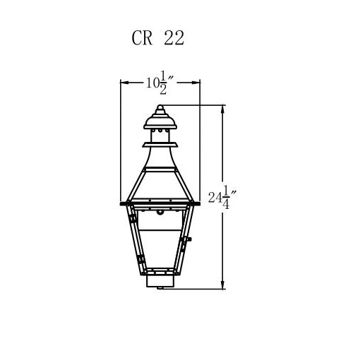 Electric Gas Light - Creole 22 - CR22E _ 2