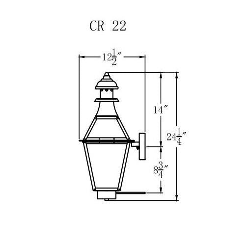 Electric Gas Light - Creole 22 - CR22E _ 3