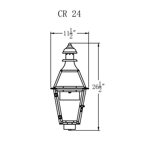 Electric Gas Light - Creole 24 - CR24E _ 2