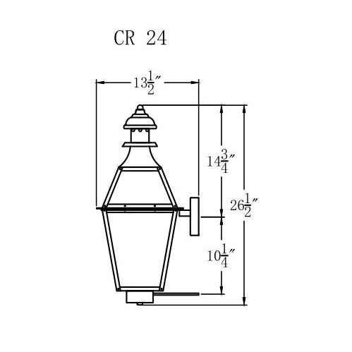 Electric Gas Light - Creole 24 - CR24E _ 3