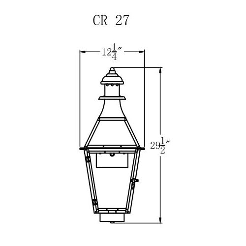 Electric Gas Light - Creole 27 - CR27E _ 2