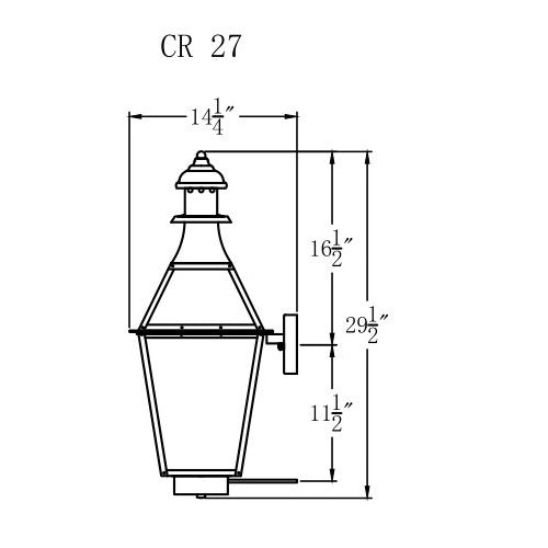 Electric Gas Light - Creole 27 - CR27E _ 3