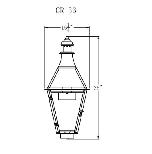 Electric Gas Light - Creole 33 - CR33E _ 2