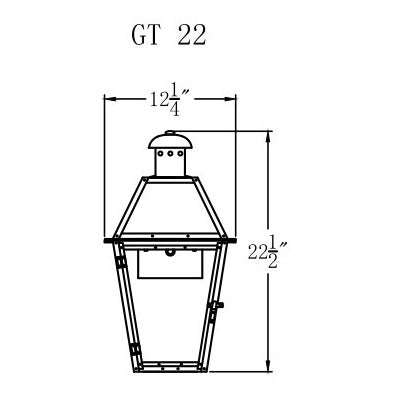 Electric Gas Light - Georgetown 22 - GT22E _ 2