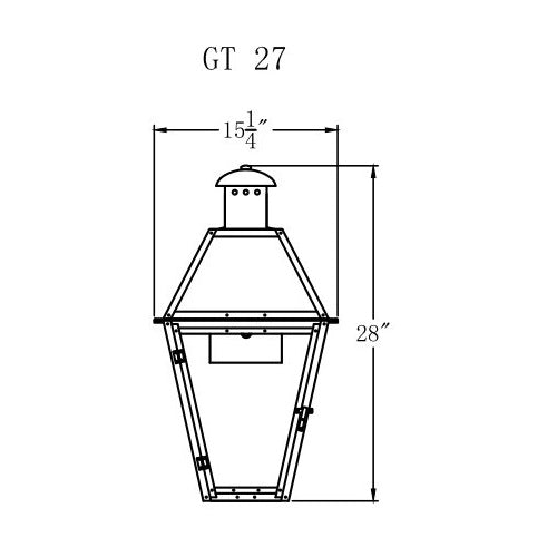 Electric Gas Light - Georgetown 27 - GT27E _ 2