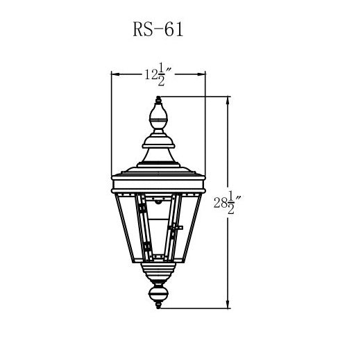 Electric Gas Light - Royal Street 61 - RS61E _ 2