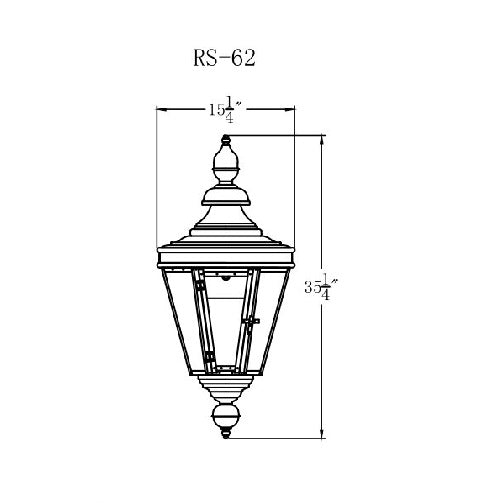 Electric Gas Light - Royal Street 62 - RS62E _ 2