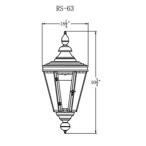 Electric Gas Light - Royal Street 63 - RS63E _ 2