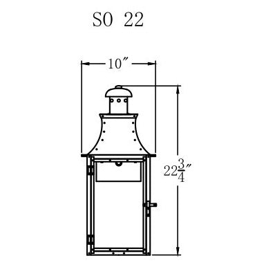 Electric Gas Light - Somerset 22 - SO22E _ 2