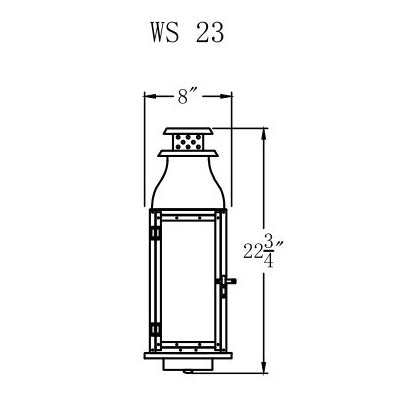 Electric Gas Light - Water Street 23 - WS23E _ 2