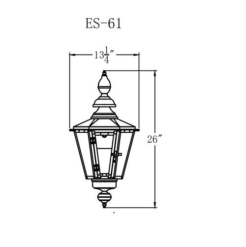 Electric Gas Light - Eslava Street 61 - ES61E _ 2