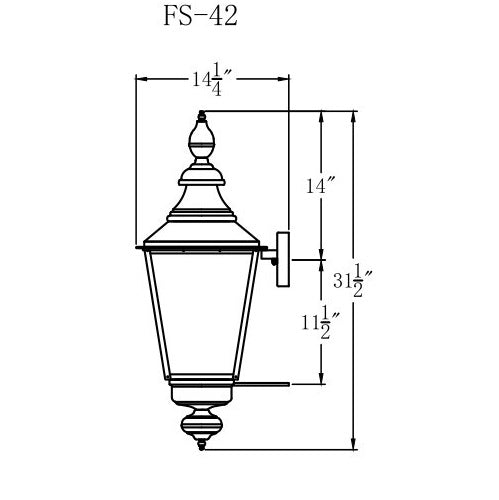 Electric Gas Light - Franklin Street 42 - FS42E _ 3