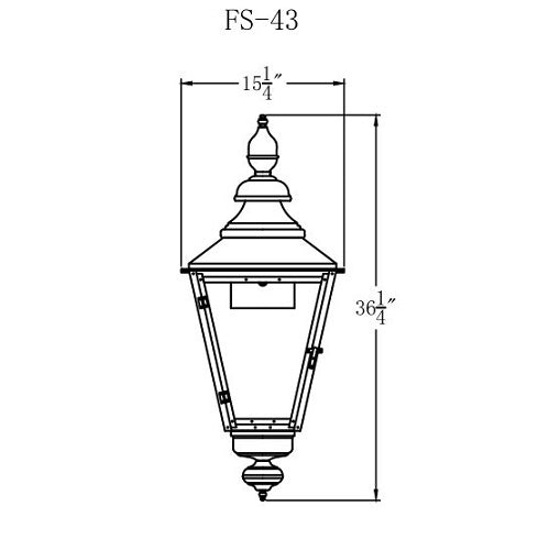 Electric Gas Light - Franklin Street 43 - FS43E _ 2
