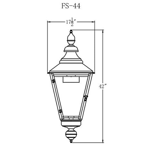 Electric Gas Light - Franklin Street 44 - FS44E _ 2