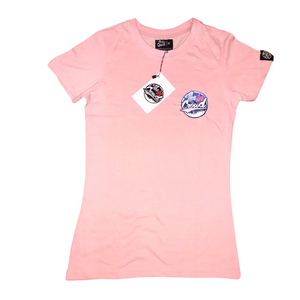 Women's Pink Slim Fit T-Shirt