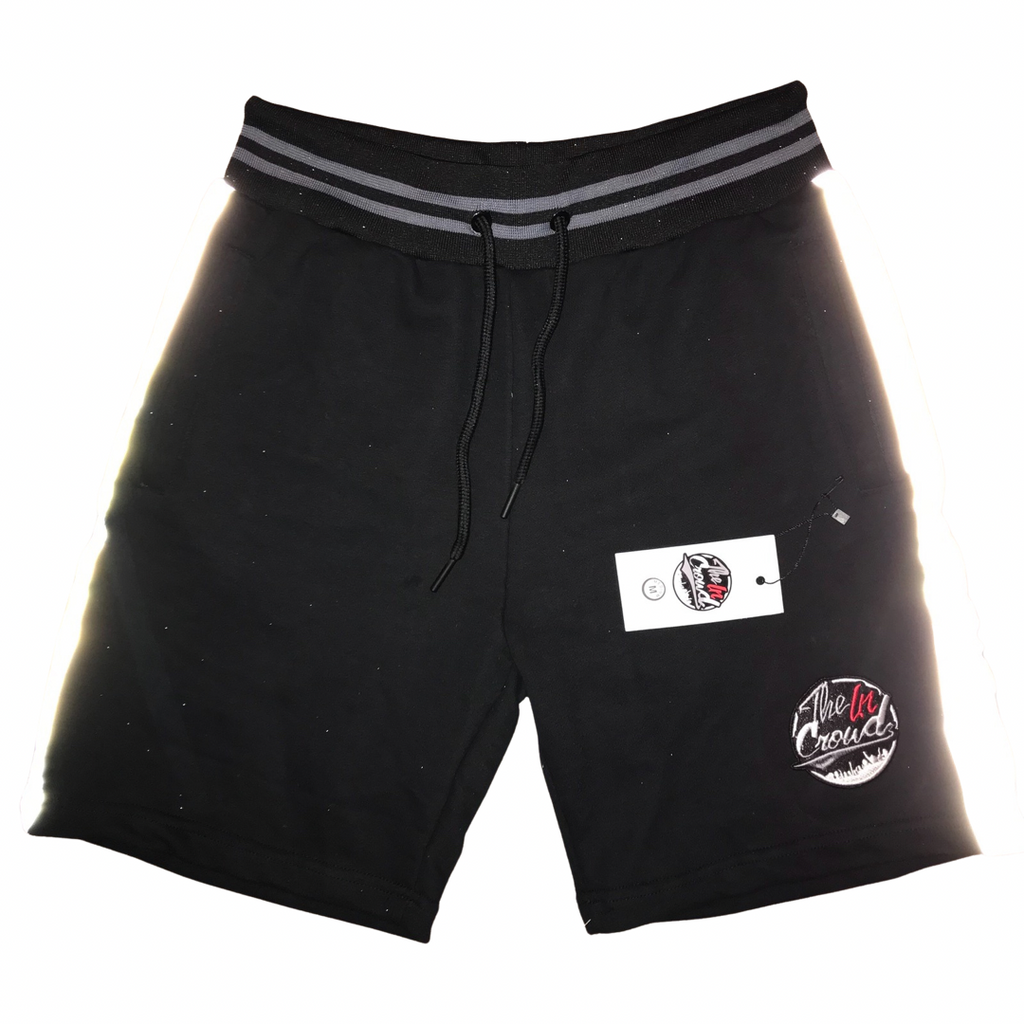 The In Crowds Black reflective shorts