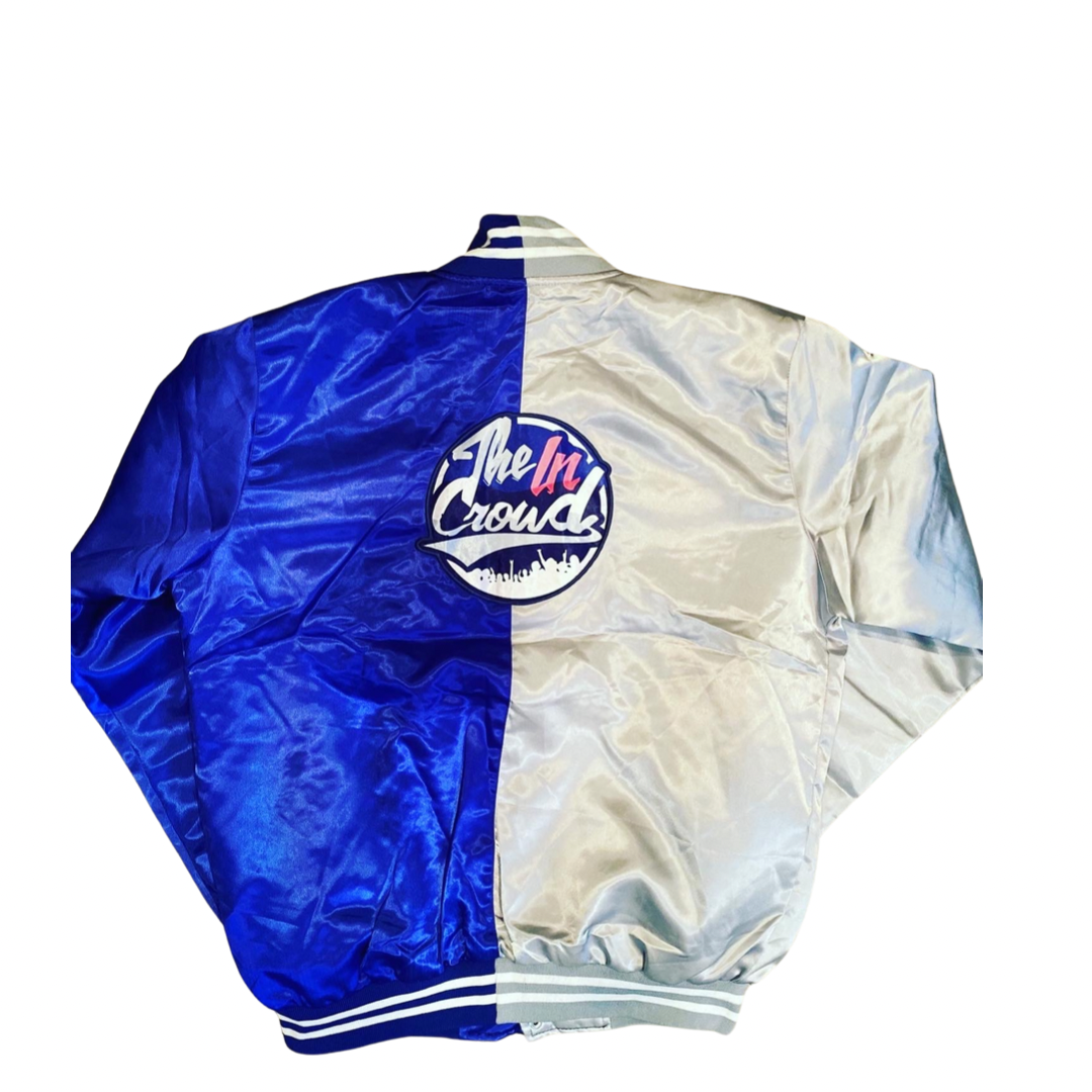 "Two Toned  ""Light Flex"" Satin Jacket"
