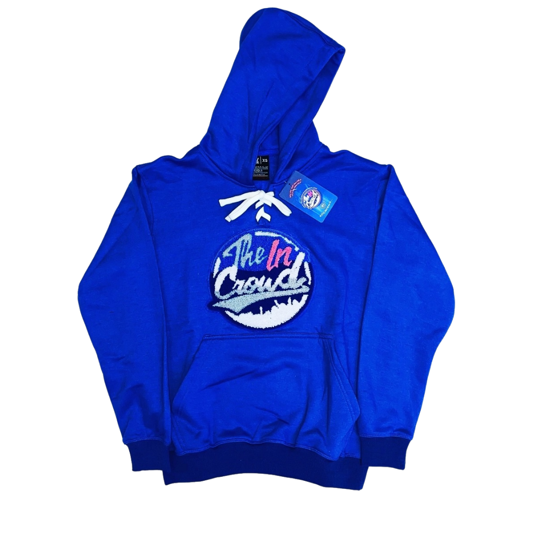 Royal Blue Chenille Logo Hockey Hoody