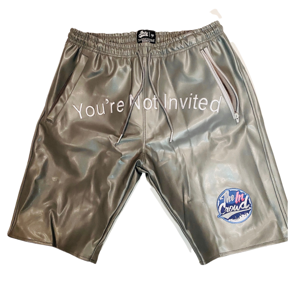"Unisex  Platinum   ""You're Not Invited "" Shorts"