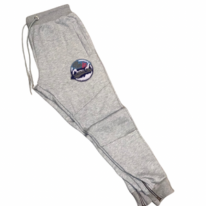 Grey chenille logo sweatpants