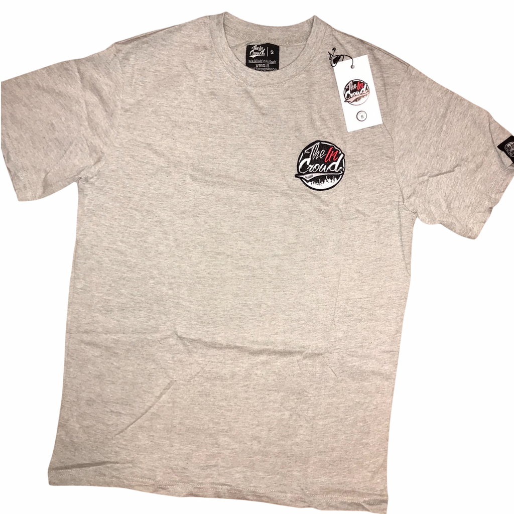 Grey stitched Logo T-shirt