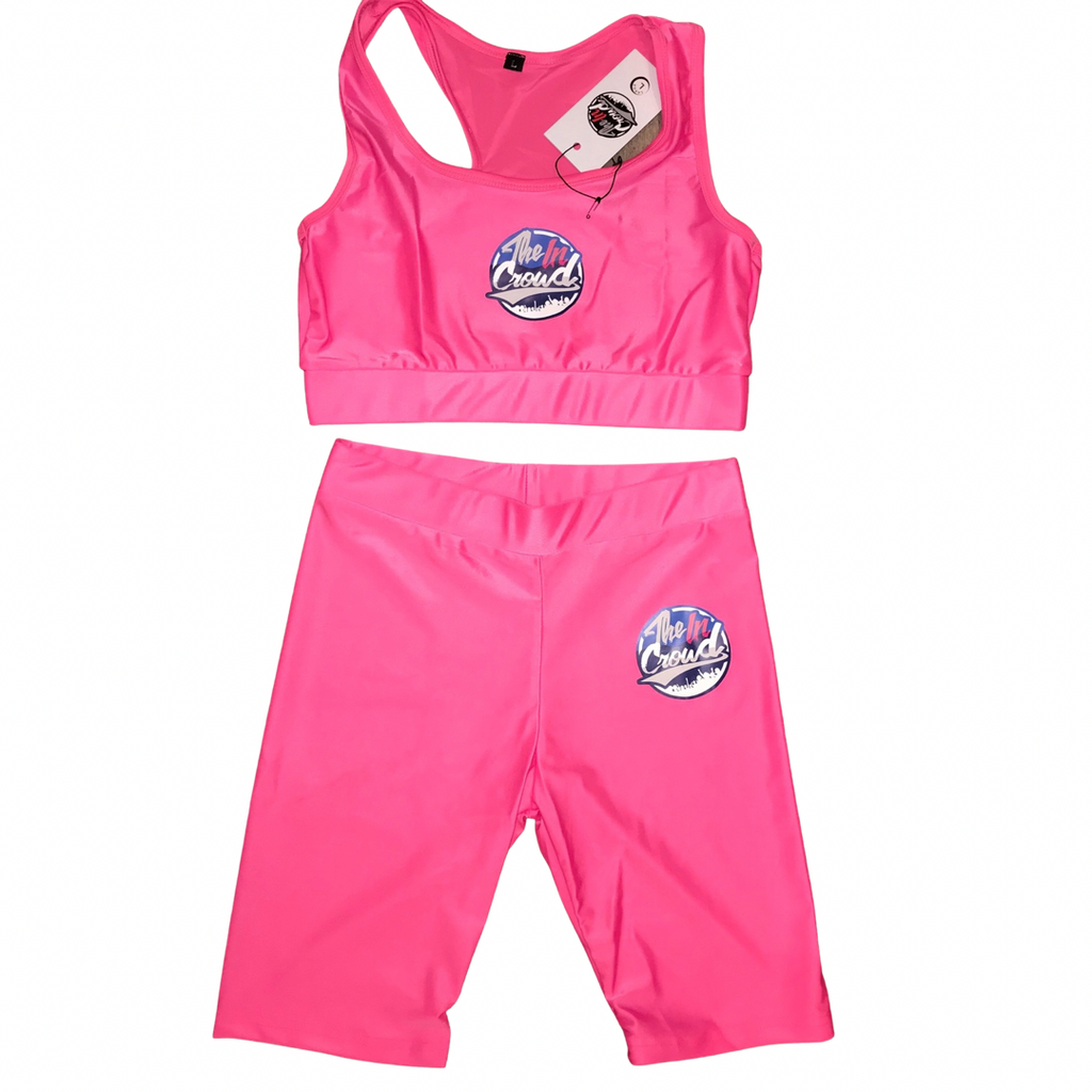 Hot girl pink 2 piece