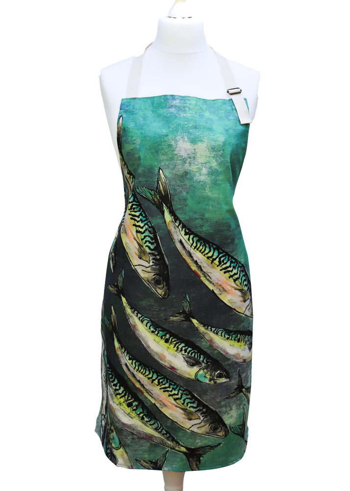 Shoal Of Mackerel Print Apron