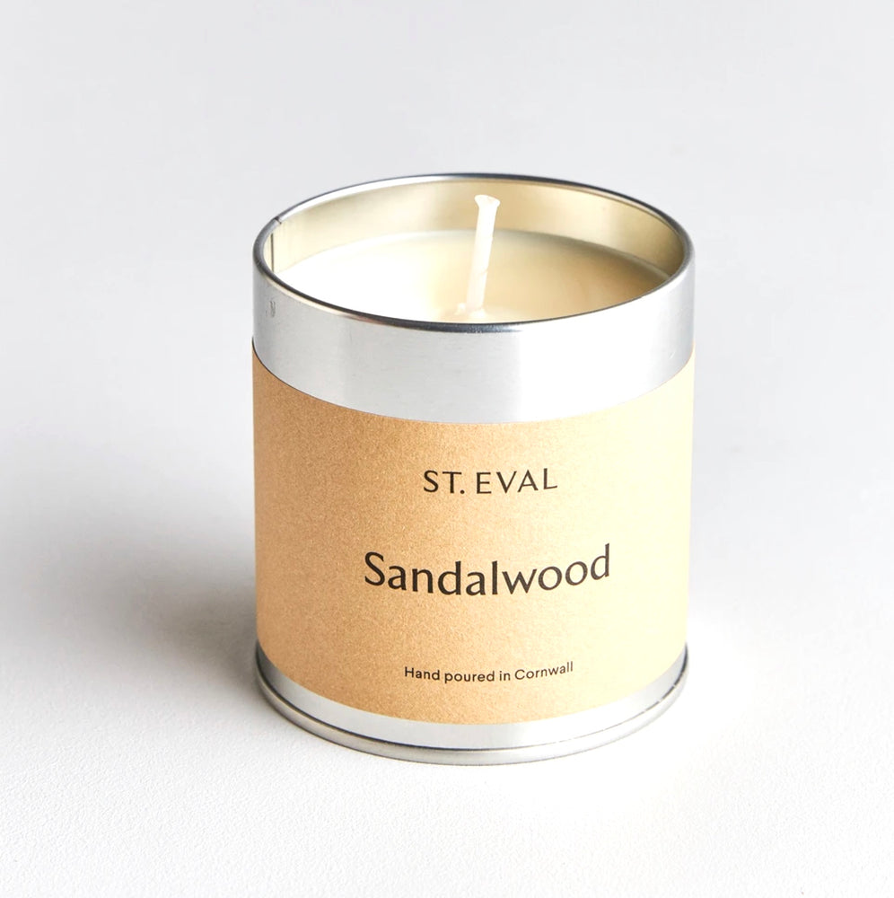 St Eval Candle Company Sandalwood Scented Tin Candle