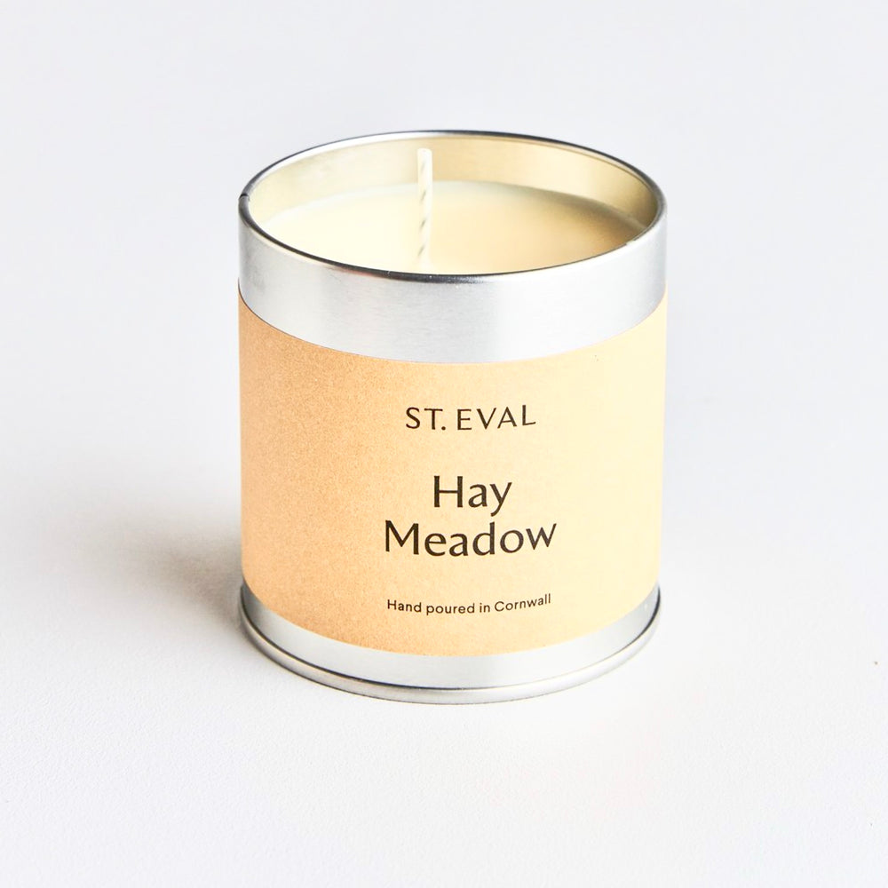 St Eval Hay Meadow Tin Candle