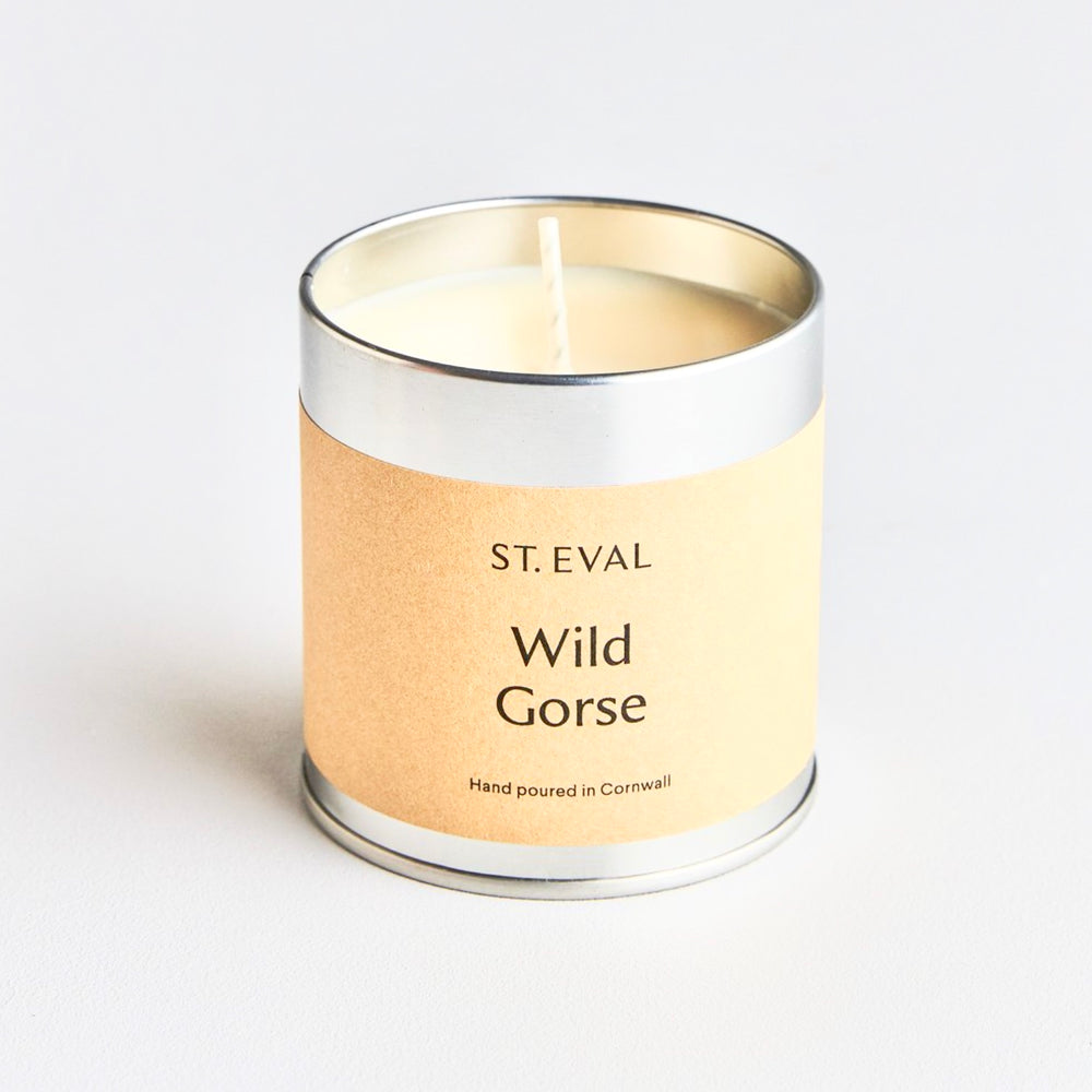 ST EVAL WILD GORSE SCENTED TIN CANDLE