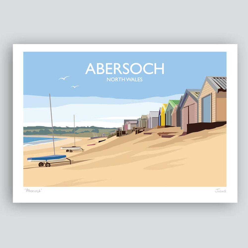ABERSOCH TRAVEL ART PRINT