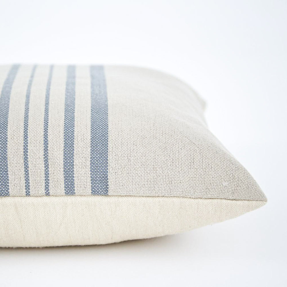 Weaver Green Antibes Linen & Blue Cushion