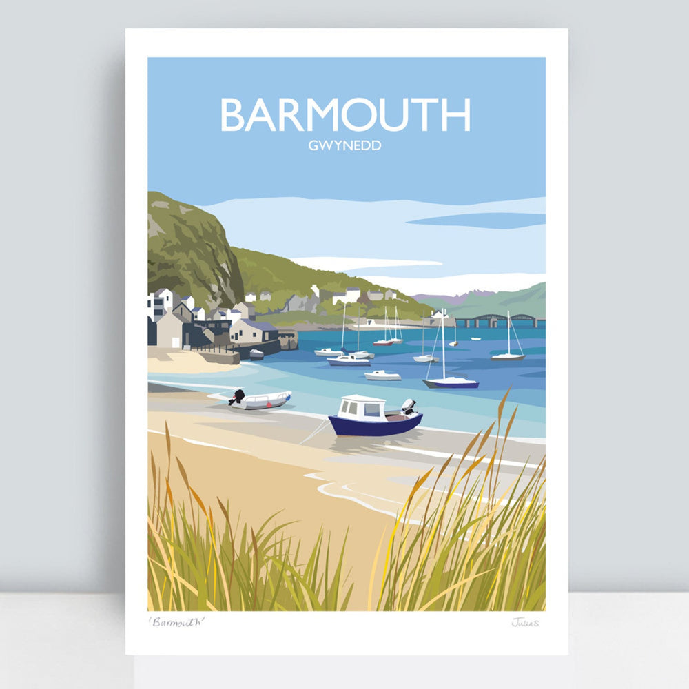 BARMOUTH TRAVEL ART PRINT
