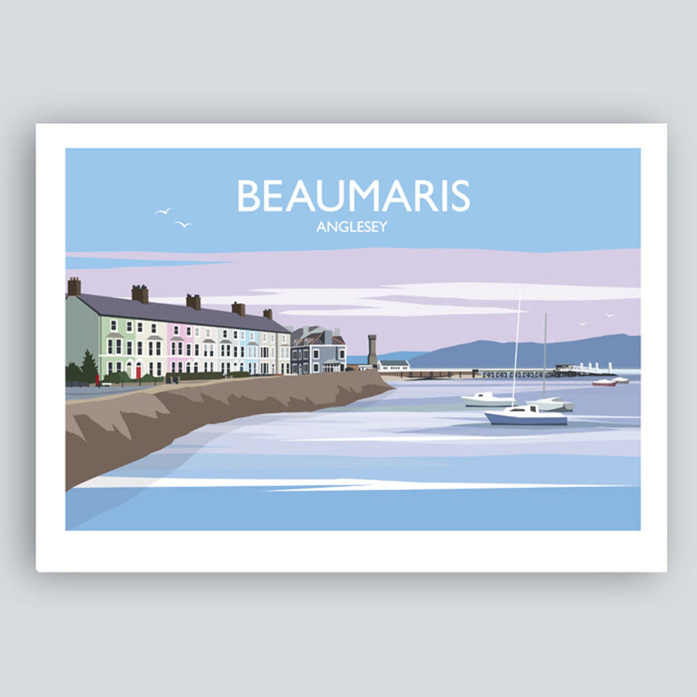 BEAUMARIS TRAVEL ART PRINT