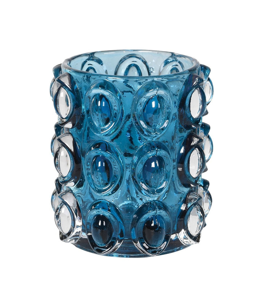 BLUE BUBBLE CANDLE HOLDER