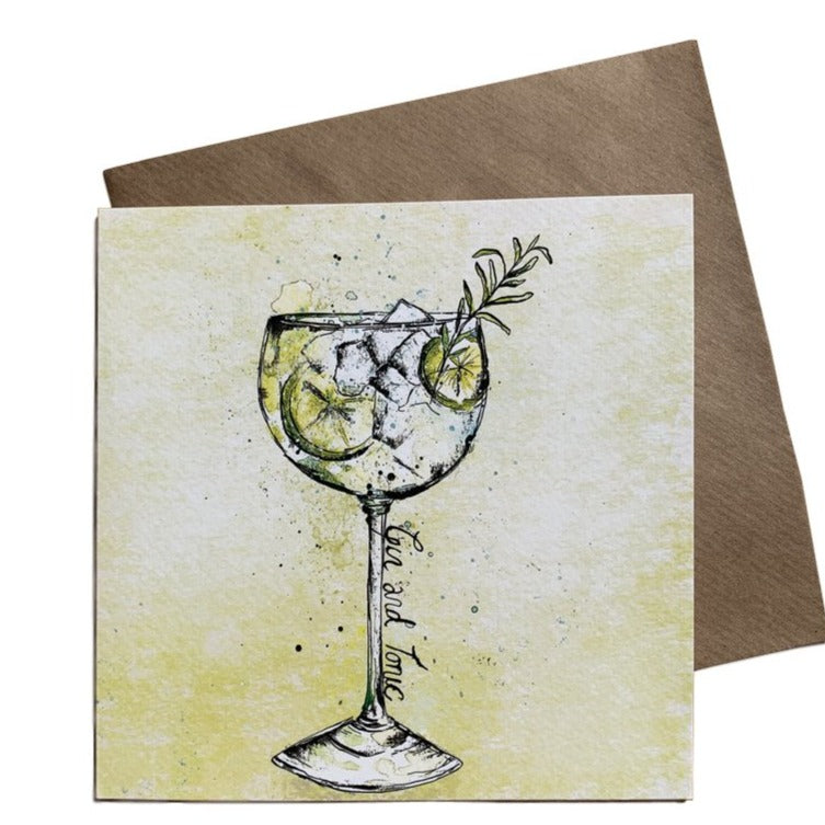 Gin & Tonic Greeting Card