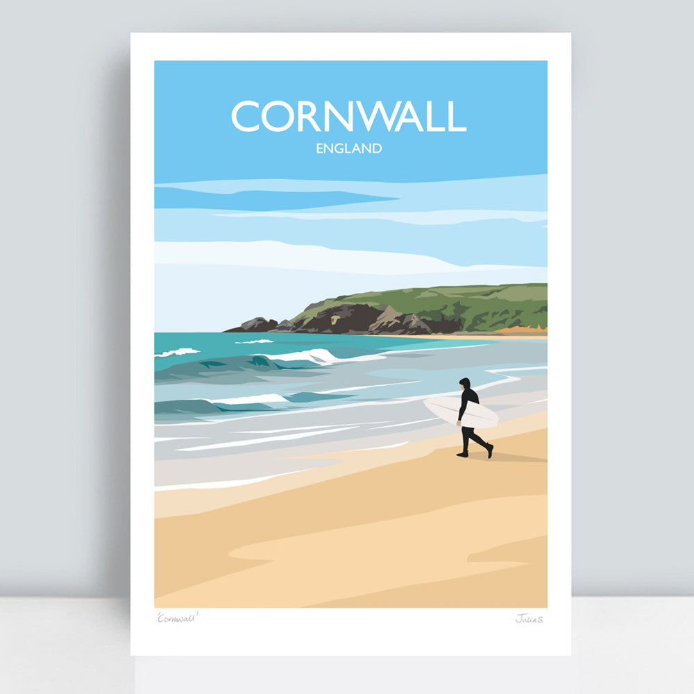 CORNWALL TRAVEL ART PRINT
