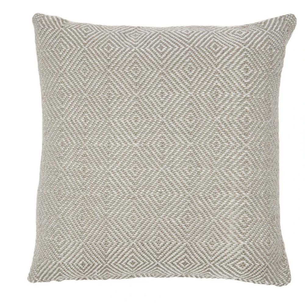WEAVER GREEN CHINCHILLA DIAMOND CUSHION