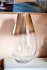 Tall Copper Effect Glass Vase