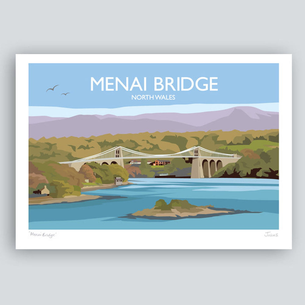 Menai Bridge Travel Art Print