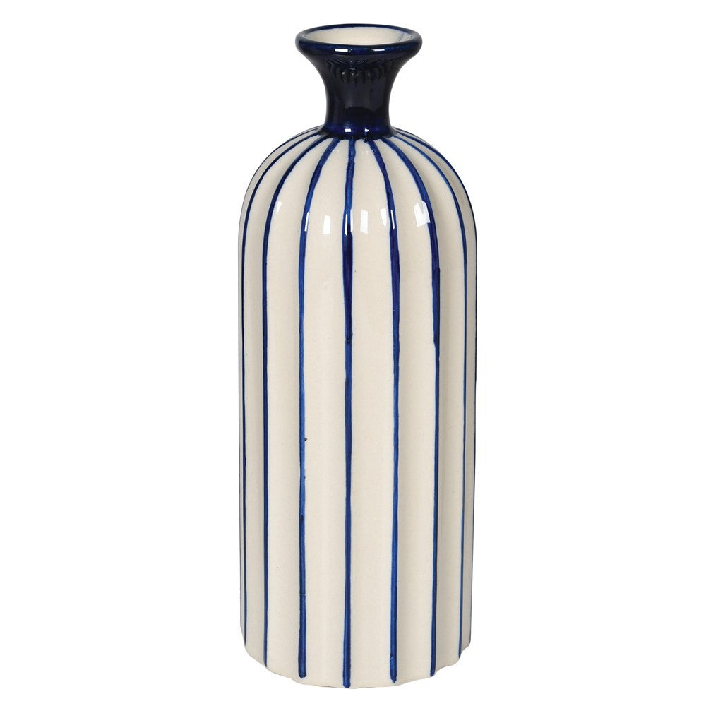 NAVY STRIPE VASE