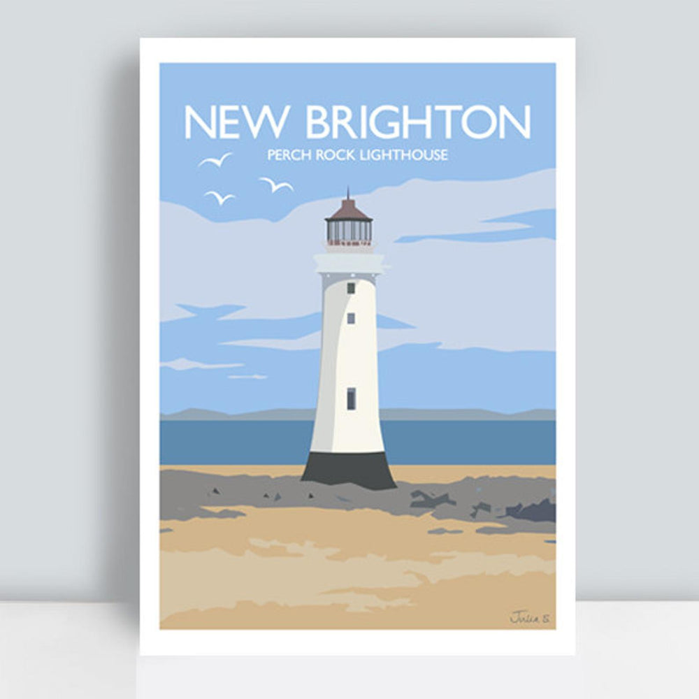 New Brighton Perch Rock Lighthouse Travel Art Print