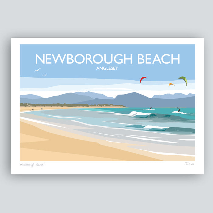 Newborough Beach Travel Art Print