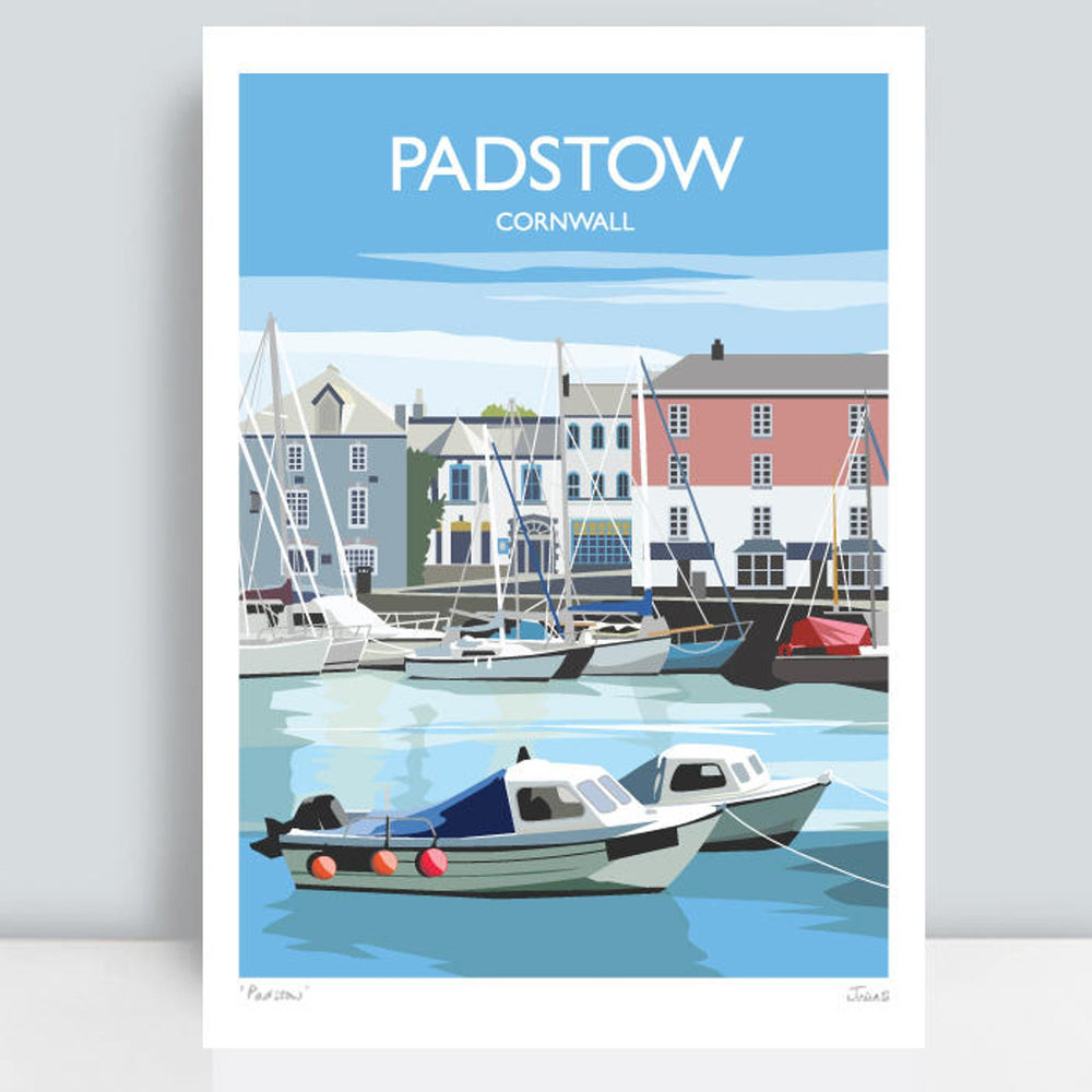 PADSTOW TRAVEL ART PRINT