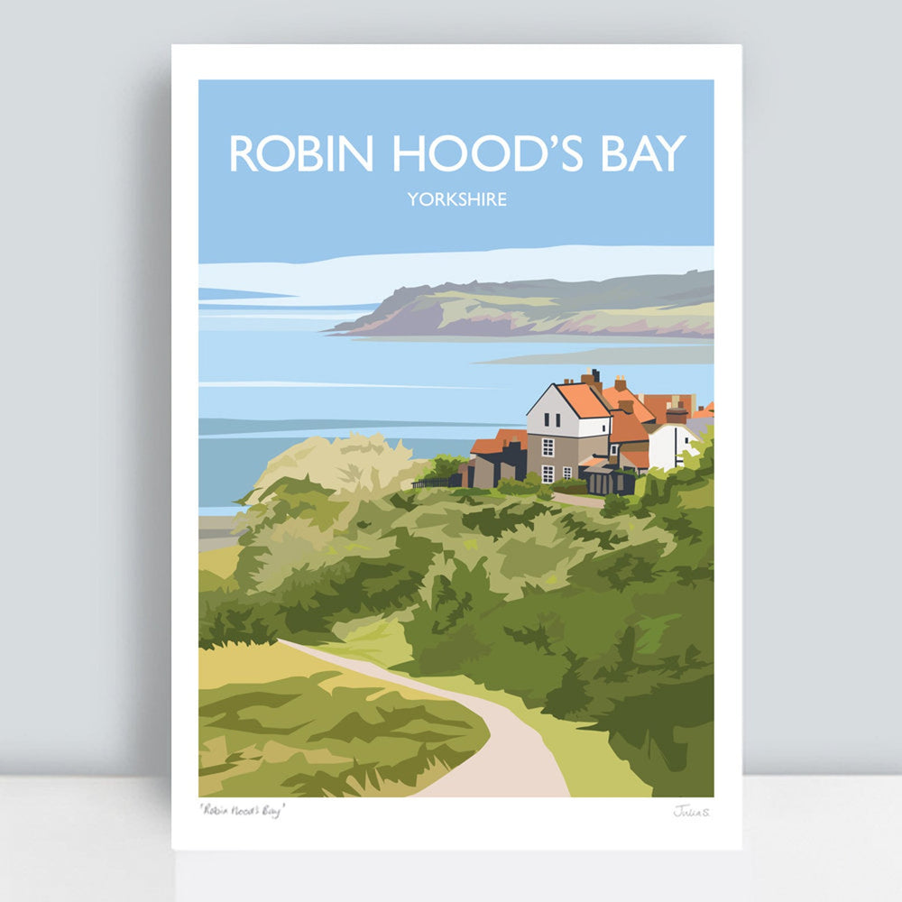 Robin Hood's Bay Travel Art Print