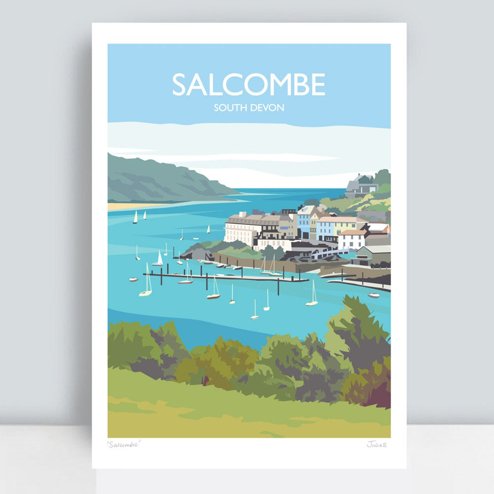 SALCOMBE TRAVEL ART PRINT