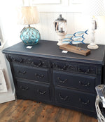 Shabby Chic Sailors Blue Double Chest Of Drawers